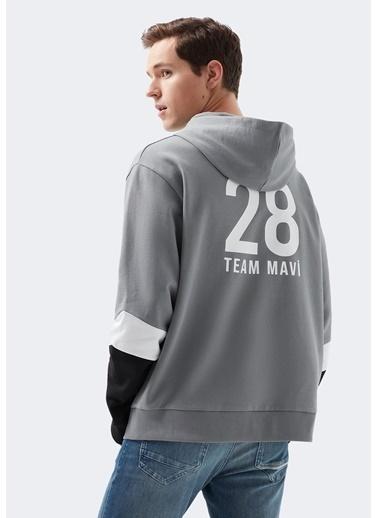 Mavi M28 Baskılı  Sweatshirt Gri